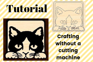 Download Free Create A Stencil Without Using A Cutting Machine Creative Fabrica for Cricut Explore, Silhouette and other cutting machines.