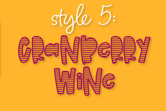 Print on Demand: Cranberry Wine Display Font By Justina Tracy - Image 2