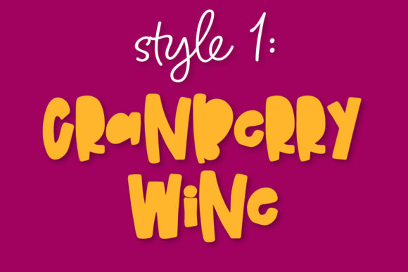 Print on Demand: Cranberry Wine Display Font By Justina Tracy - Image 3