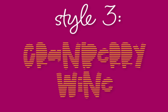 Print on Demand: Cranberry Wine Display Font By Justina Tracy - Image 5