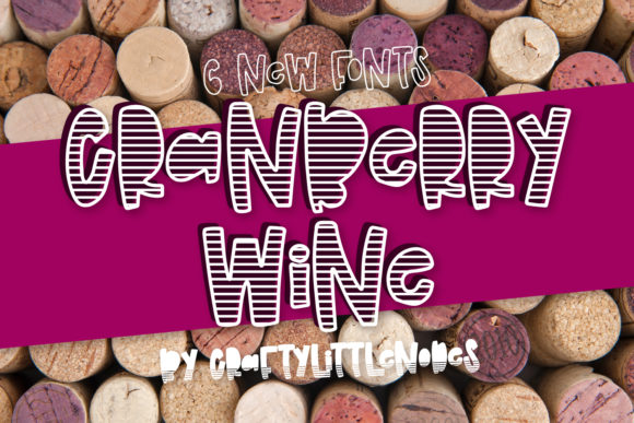Print on Demand: Cranberry Wine Display Font By Justina Tracy - Image 1