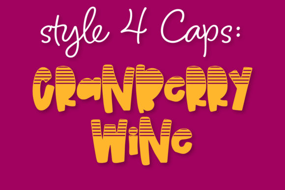 Print on Demand: Cranberry Wine Display Font By Justina Tracy - Image 7