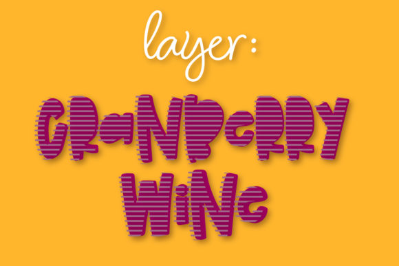 Print on Demand: Cranberry Wine Display Font By Justina Tracy - Image 9