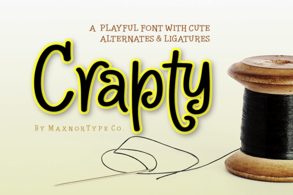 Print on Demand: Crapty Display Font By MaxnorType