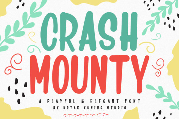 Print on Demand: Crash Mounty Script & Handwritten Font By Kotak Kuning Studio