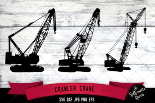 Download Free Crawler Crane Graphic By Thesilhouettequeenshop Creative Fabrica for Cricut Explore, Silhouette and other cutting machines.