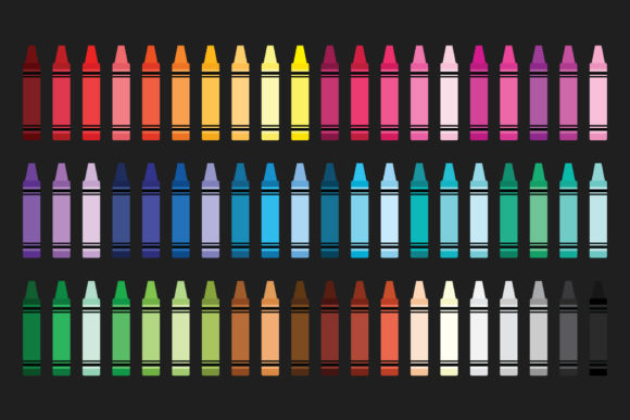 Crayon & Border Clip Art Set Graphic By Running With Foxes Image 5