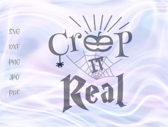 Download Free Creep It Real Happy Halloween Clipart Grafik Von Digitals By for Cricut Explore, Silhouette and other cutting machines.