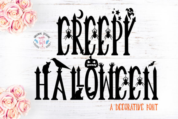 Print on Demand: Creepy Halloween Display Font By GraphicHouseDesign