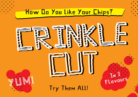Print on Demand: Crinkle Cut Display Font By GraphicsBam Fonts - Image 1