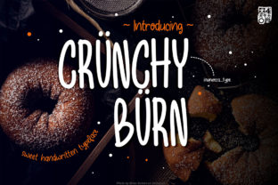 Print on Demand: Crunchy Burn Display Font By inumocca_type
