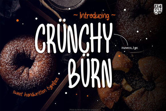 Crunchy Burn Display Font By inumocca_type