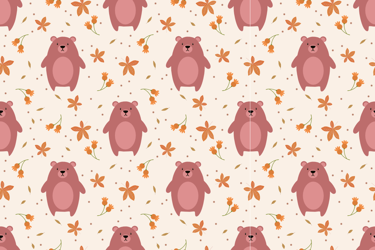 Download Free Cute Bear And Autumn Leaves Graphic By Thanaporn Pinp Creative for Cricut Explore, Silhouette and other cutting machines.