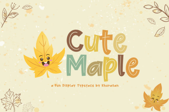 Print on Demand: Cute Maple Display Font By Khurasan