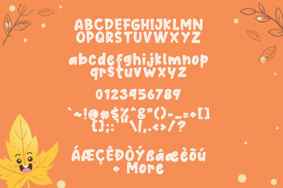 Cute Maple Font By Khurasan Image 7