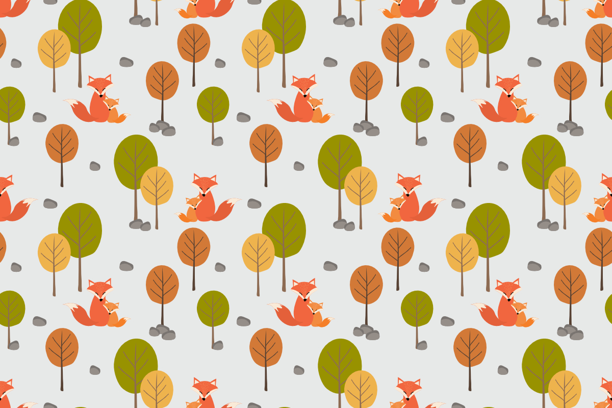 Download Free Cute Fox Mom And Her Kid In Autumn Graphic By Thanaporn Pinp for Cricut Explore, Silhouette and other cutting machines.
