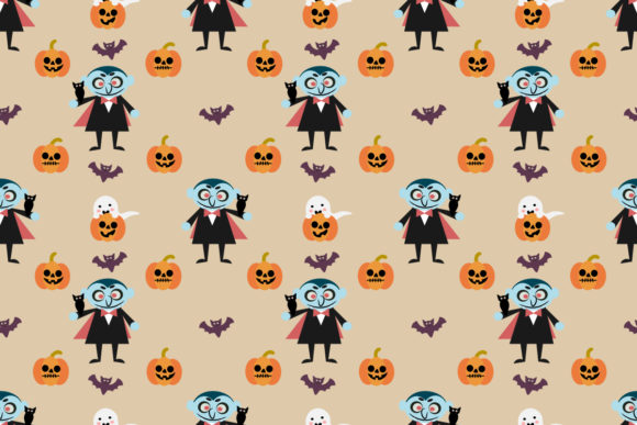 Cute Vampire And Halloween Bat Graphic By Thanaporn Pinp