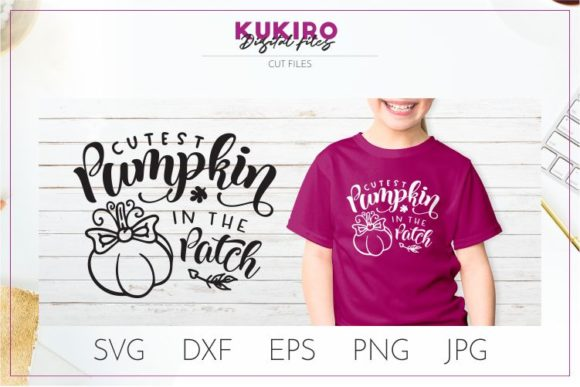 Download Free Cutest Pumpkin In The Patch Graphic By Kukiro Creative Fabrica for Cricut Explore, Silhouette and other cutting machines.