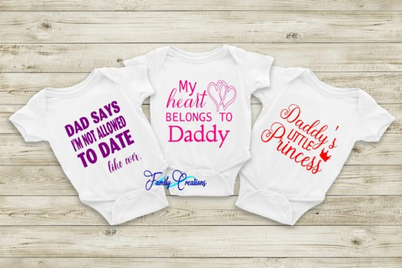 Download Free Daddy S Girl Bundle Graphic By Family Creations Creative Fabrica SVG Cut Files