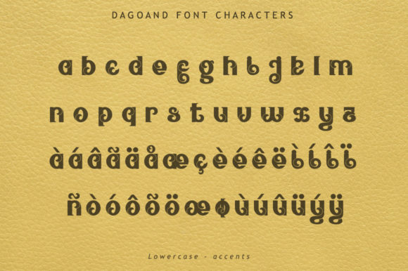 Print on Demand: Dagoand Display Font By leamsign - Image 6