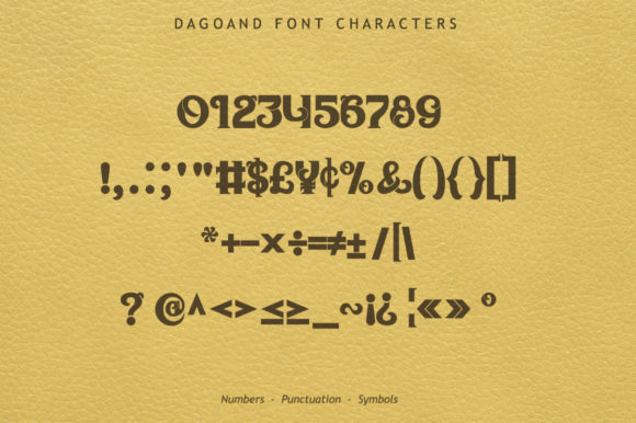 Print on Demand: Dagoand Display Font By leamsign - Image 7
