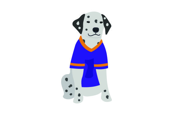 Dalmatian in American Football Jersey Dogs Craft Cut File By Creative Fabrica Crafts - Image 1