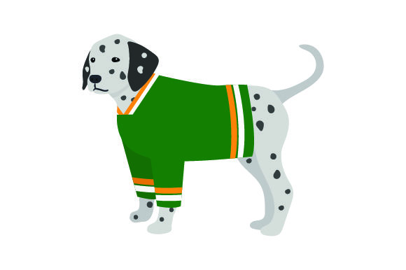 Dalmatian in Hockey Jersey Dogs Craft Cut File By Creative Fabrica Crafts - Image 1