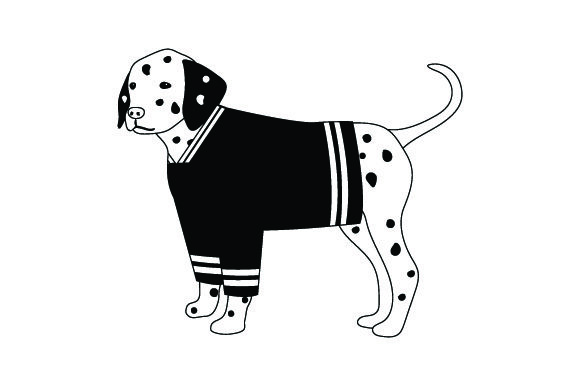 Dalmatian in Hockey Jersey Dogs Craft Cut File By Creative Fabrica Crafts - Image 2