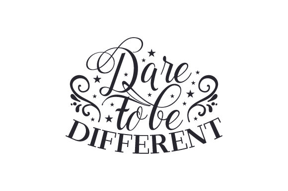 Download Free Dare To Be Different Svg Cut File By Creative Fabrica Crafts for Cricut Explore, Silhouette and other cutting machines.