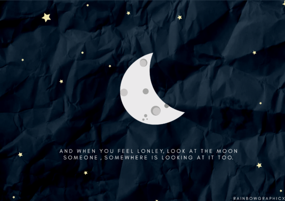 Print on Demand: Dark Aesthetic Half Moon Graphic Illustrations By RainbowGraphicx  - Image 2