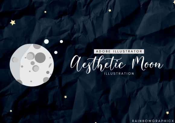 Print on Demand: Dark Aesthetic Moon Graphic Illustrations By RainbowGraphicx
