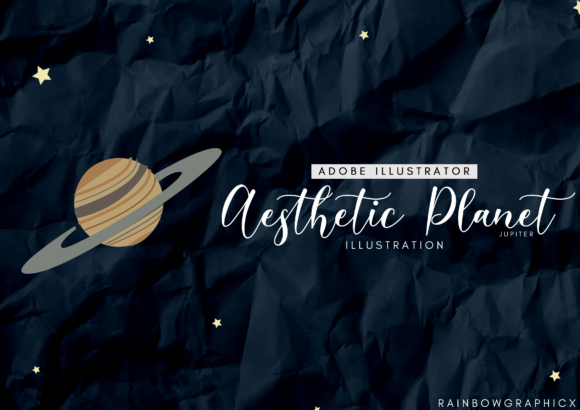Print on Demand: Dark Aesthetic Planet Jupiter Graphic Illustrations By RainbowGraphicx
