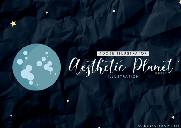 Print on Demand: Dark Aesthetic Planet Uranus Graphic Illustrations By RainbowGraphicx