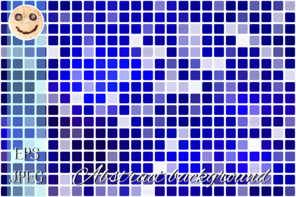 Print on Demand: Dark Blue Occasional Opacity Mosaic Graphic Illustrations By TasiPas