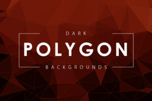 Dark Polygon Backgrounds Graphic By ArtistMef