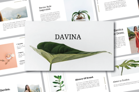 Print on Demand: Davina Keynote Graphic Presentation Templates By nirmala.graphics