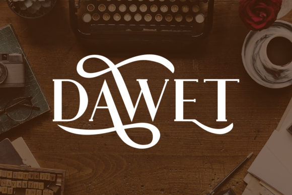 Print on Demand: Dawet Serif Font By da_only_aan