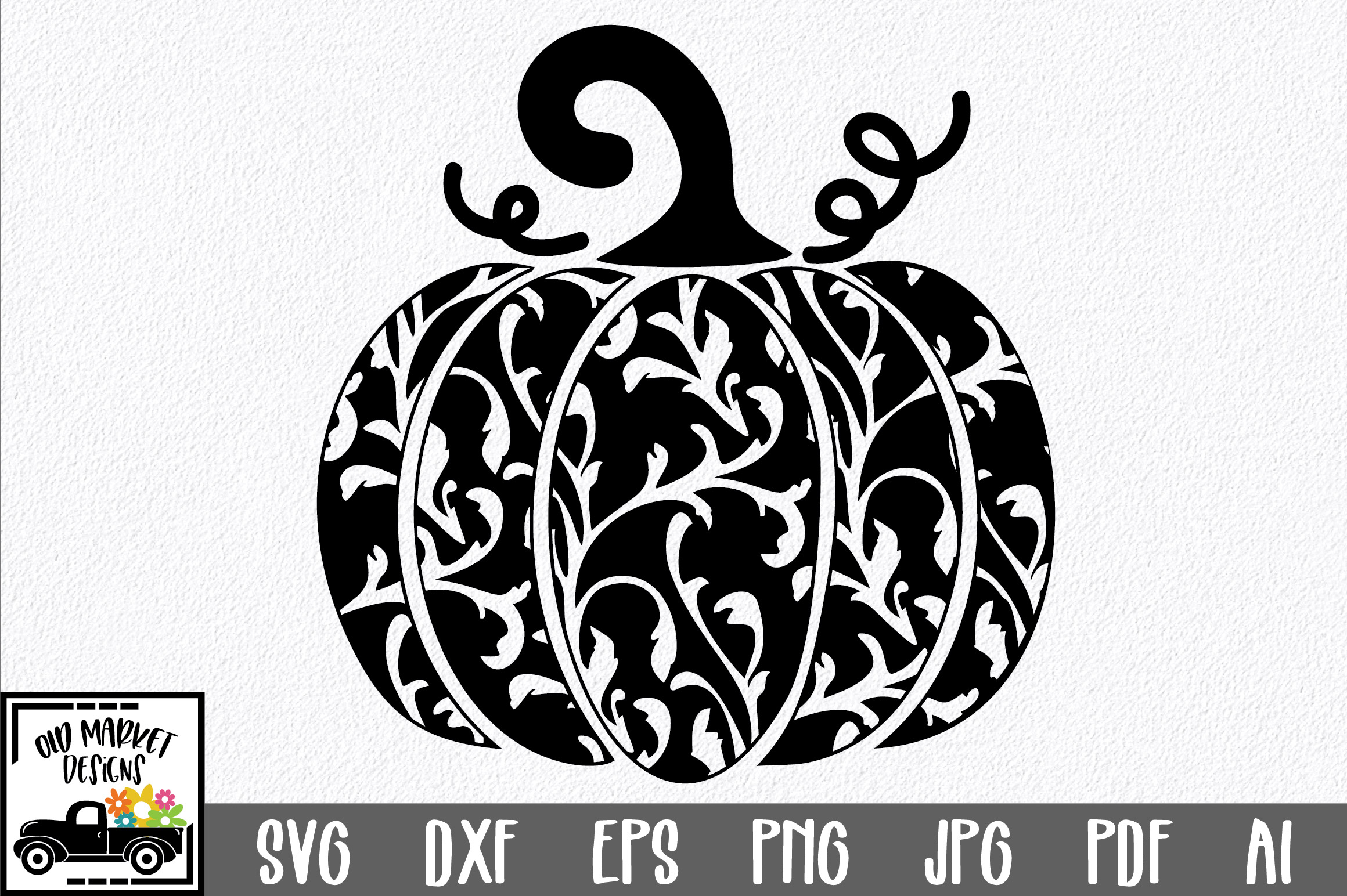 Download Free Decorative Pumpkin Graphic By Oldmarketdesigns Creative Fabrica for Cricut Explore, Silhouette and other cutting machines.
