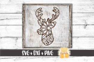 Download Free Deer Floral Zen Doodle Graphic By Cheesetoastdigitals Creative for Cricut Explore, Silhouette and other cutting machines.