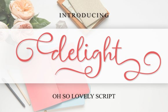 Print on Demand: Delight Script & Handwritten Font By MJB Letters