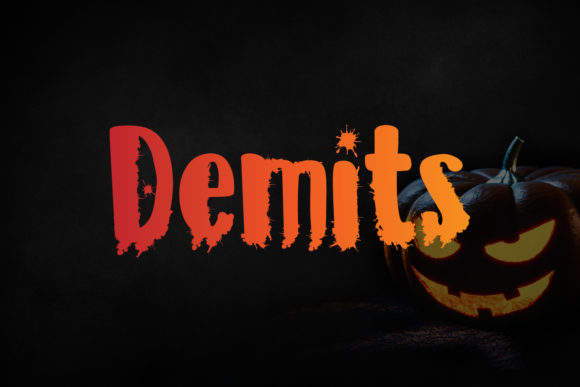 Demits Display Font By da_only_aan