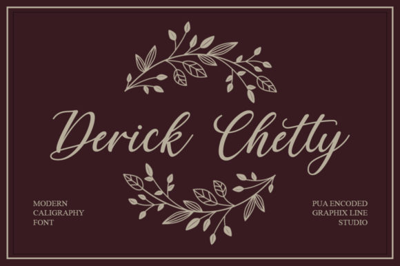 Print on Demand: Derick Chetty Script & Handwritten Font By Graphix Line Studio - Image 1