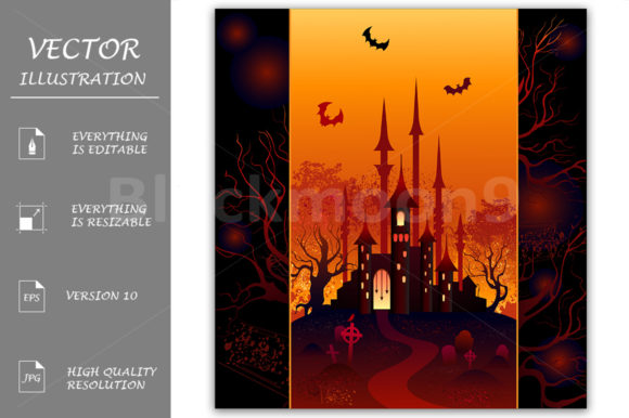 Design for Halloween Graphic Illustrations By Blackmoon9
