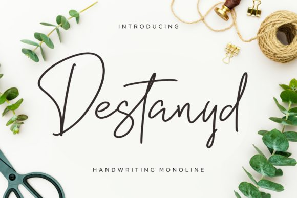Print on Demand: Destanyd Script & Handwritten Font By CreatypeStudio