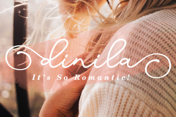 Print on Demand: Dinila Script & Handwritten Font By aldedesign