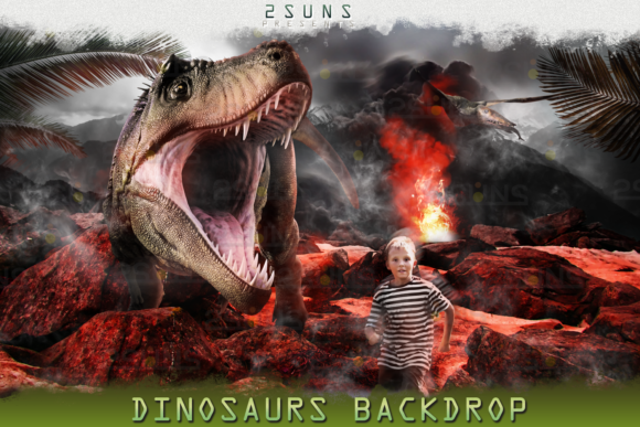 Dino Backdrop, Dunosaur Backdrop Graphic Layer Styles By 2SUNS