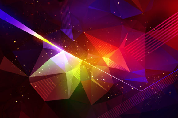 Download Free Dispersion Polygon Backgrounds Graphic By Artistmef Creative for Cricut Explore, Silhouette and other cutting machines.