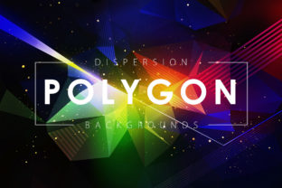 Dispersion Polygon Backgrounds Graphic By ArtistMef
