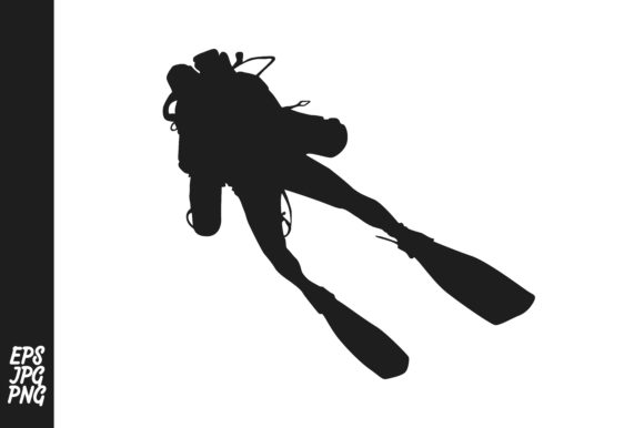 Download Free Divers Silhouette Graphic By Arief Sapta Adjie Creative Fabrica for Cricut Explore, Silhouette and other cutting machines.