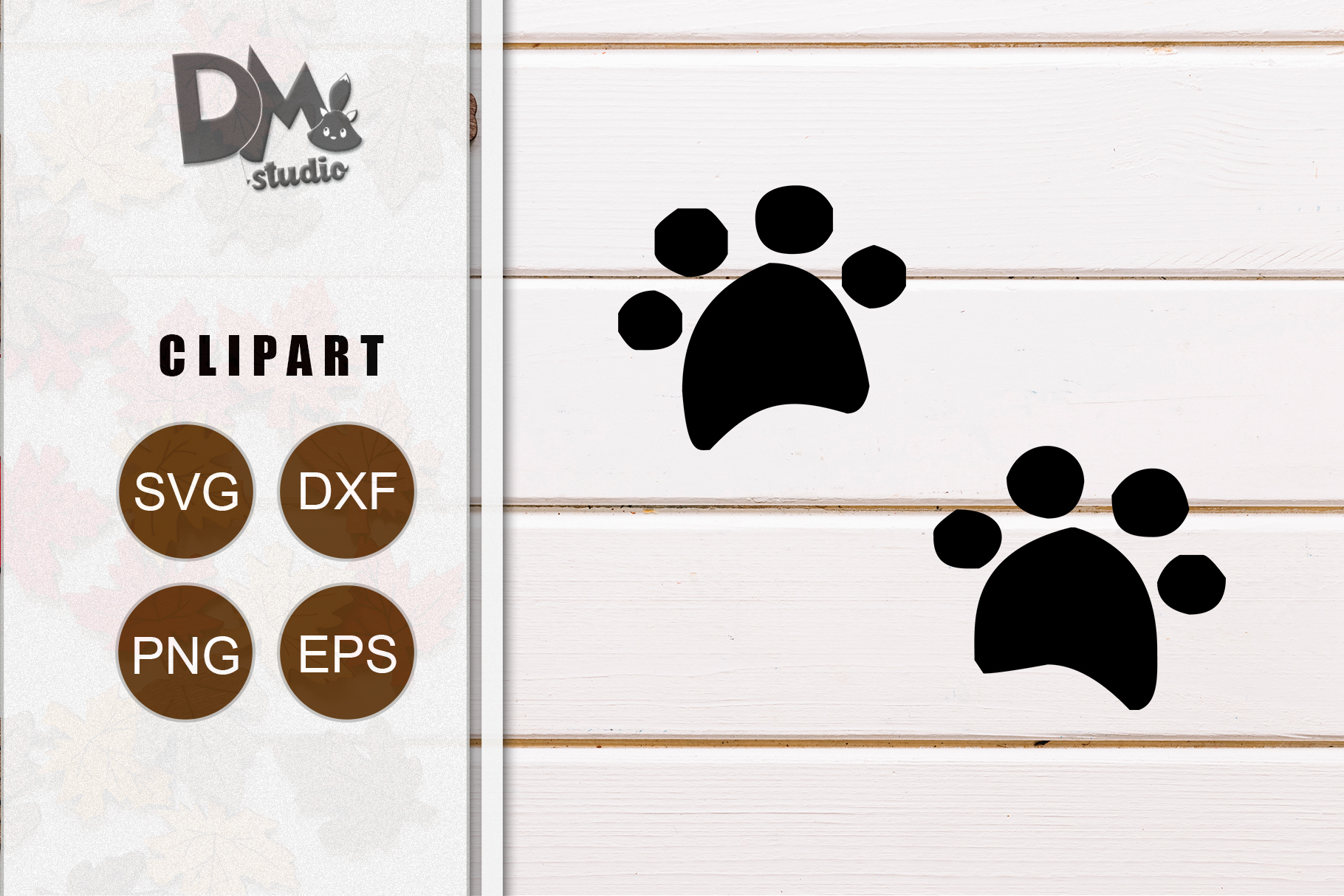 Download Free Dog Paw Graphic By Sharon Dmstd Creative Fabrica for Cricut Explore, Silhouette and other cutting machines.